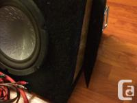 "I have two 10"" Pioneer Subs (material on box is falling"