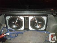 Hey I got 2 12 inch clarion subs 800watt each 4ohm in a