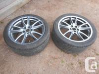 2014 Mustang GT wheels, 2 only. Usual curb scuffs but