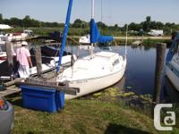 Well build in Oakville,Ontario sailboat cruiser.