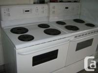 """2 30"""" WIDE WHITE CLR ELECTRIC STOVES DIGITAL OVEN"""