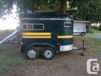 1986 RUSTLER horse trailer for sale. Green in colour
