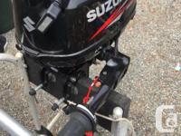 2012 Suzuki 2.5HP outboard. Amazing like new condition.