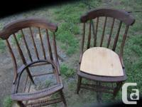 Lovely antique chairs, have been stripped and sanded