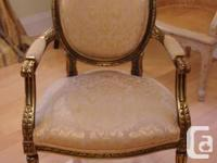 A pair of highly ornate antique bergeres Frames in