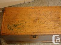 2 Antique Pine Tool Chests ...Restored...Both have