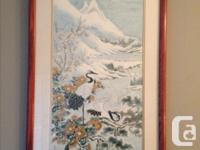 Each of these 2 pieces is an original silk painting,