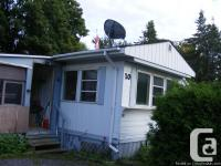 2 bedroom mobile, located just outside of carleton