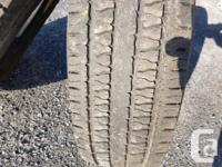 2 BF Goodrich Commercial TA Tires. LT245/75R16 LRE M&S.