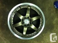 I have 2 brand new VOXX racing wheels in 17 inch