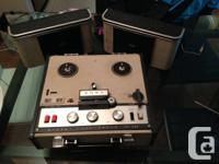 Working 60's Sony TC-200 tube reel to reel
