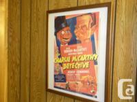 2 Very nice framed Comedy prints already framed!