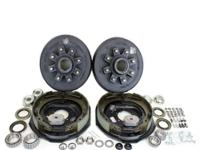 "Two Pair of 12"" hub/drum 8 studs 6.5"" bolt circle using"
