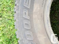 2 Cooper Snow Tires. 245/70R16 Cooper discoverer M&S