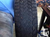 2 Tires only. Pacemark Snowtrakker Mud and also Snow