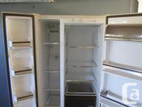 we have an excellent working 2 door fridge for sale