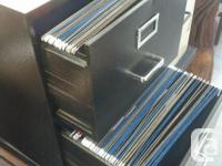 This is a simple 2 drawer locking file cabinet