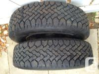 2 EUC Magna Wintermark Radial HT Snow Tires with rims