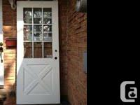 """2 exterior doors 34""""x81"""" for $80 or best offer."""