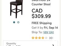 These bar chairs are sturdy and very comfortable, just