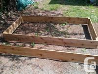 2 Cedar Garden Boxes (1X8 width cedar) for sale. We