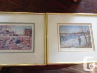 2 professionally framed art card prints by Henry
