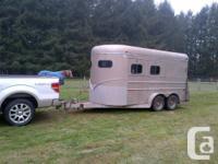 1994 ROYAL 2 HORSE ANGLE HAUL WARMBLOOD SIZE TRAILER