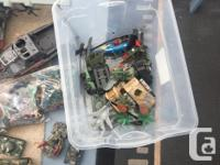 """2 huge"" totes of army toys, huge planes boats choppers"