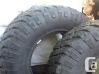 LT 315/70/R17 Radical Tubeless tires. These are 2 Kelly