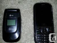 Selling 2 LG virgin mobile cell phones.  They are in