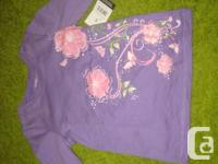 2 long sleeved tops in pink and purple - 5T Ladies -