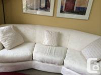 Hello! We're selling 2 off-white/cream couches. Both