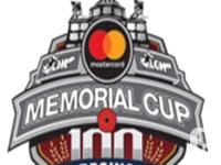 Selling my ticket packages for Memorial Cup. May 25th