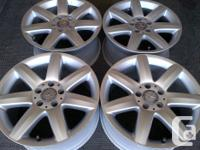 YOU ARE PURCHASING 2 MERCEDES BENZ OEM POLISHED ALLOY