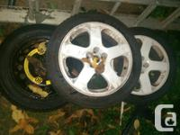 Only 2 rims with tires and full size spare 225/45 R17