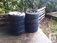I'm offering 2 collections of tires, both of them on