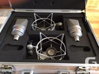 Neumann TLM 103 SET of two w/ EA1 Shockmounts and two