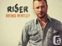 Amazing tickets for the Dierks Bentley performance with