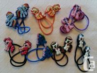 Girls Themed Hair Elastics, assorted themes. 2 pair/$5