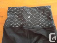 Two different Lululemon pants for $30 - both small. -