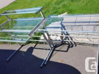 2-piece glass and chrome desk Put them together, or use