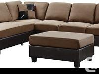 Key Features Supple faux leather covers the sectional