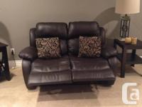 Like new only 2 years old brown Leatherlike sofa and