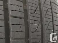Selling a pair of Pirelli Cinturato P7 all season run