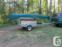 North Woods Sport Trailers galvanized, 2-place canoe /