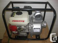 "I have 2 brand-new 3"" Powertek water pump 6.5 HP c/w"
