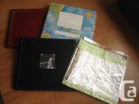"Two 12"" x 12"" top-load albums. Excellent for scrap"