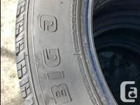 2 sets of 4 225/55R18 SUV tires for sale. One set of 4
