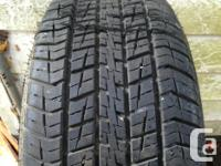 235/55/16 Firestone Indy 500 car tires about 60-70 %