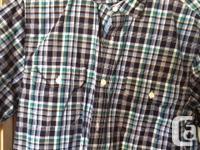 Two plaid shirts, both size small and in excellent